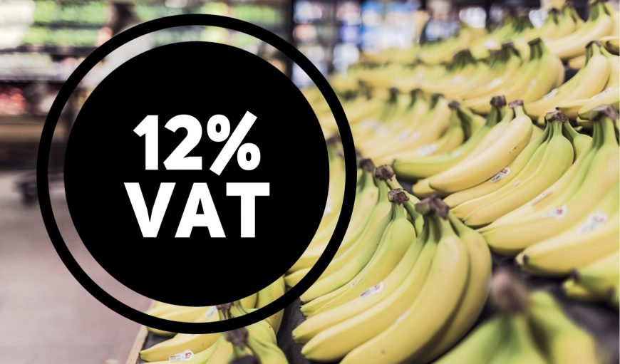 VAT INCREASE TO 12% ON JULY 1st 2018