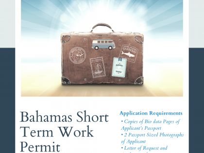 BAHAMAS SHORT TERM WORK PERMIT APPLICATIONS